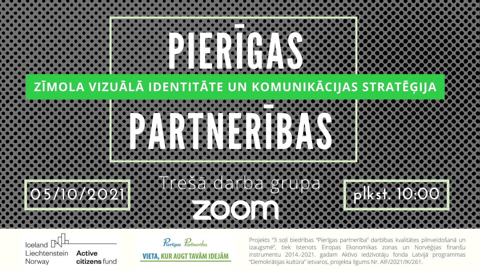 """""""Pierīgas Partnerības"""" zīmola vizuālā identitāte un komunikācijas stratēģija – trešā darba grupa"""